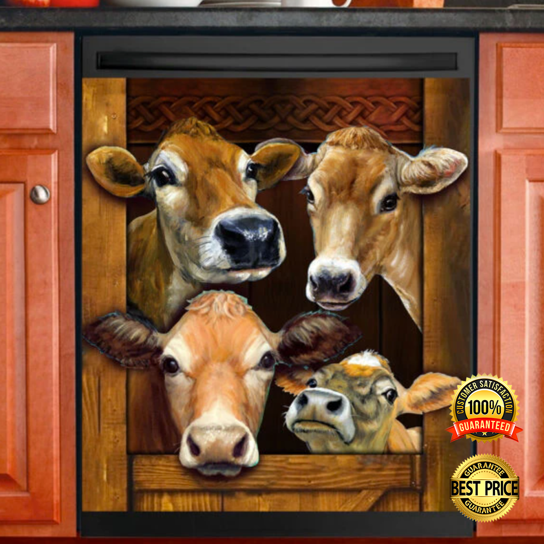 [TREND] COW DECOR DISHWASHER COVER