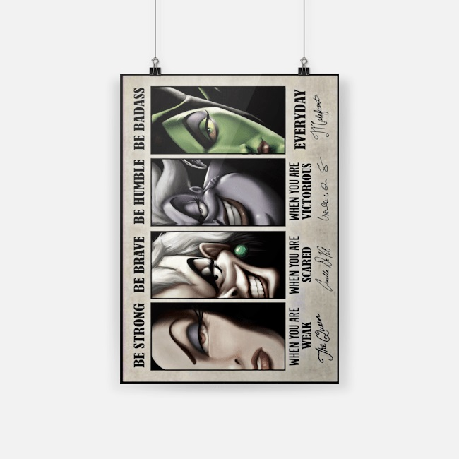 Disney villains signature be strong be brave be humble be badass canvas