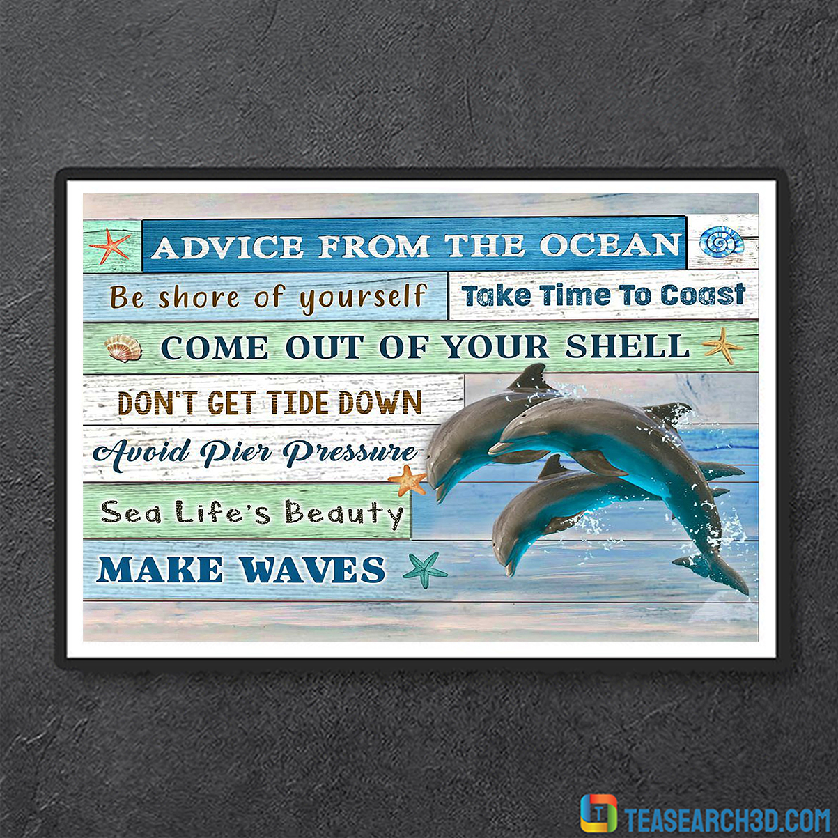 Dolphin advice from the ocean canvas