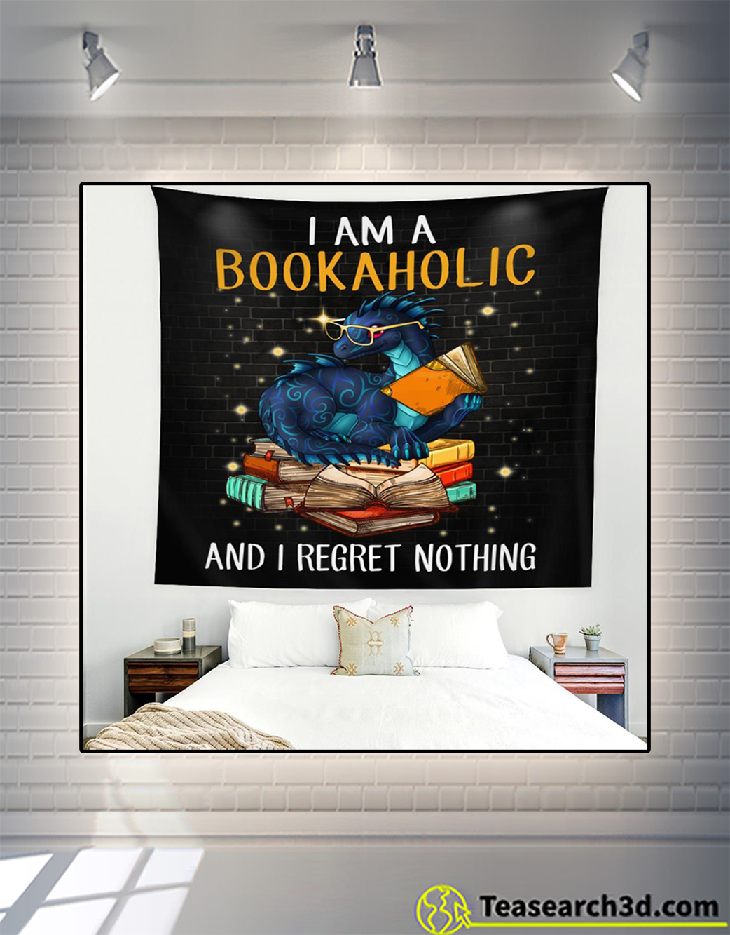 Dragon I am a bookaholic and I regret nothing tapestry