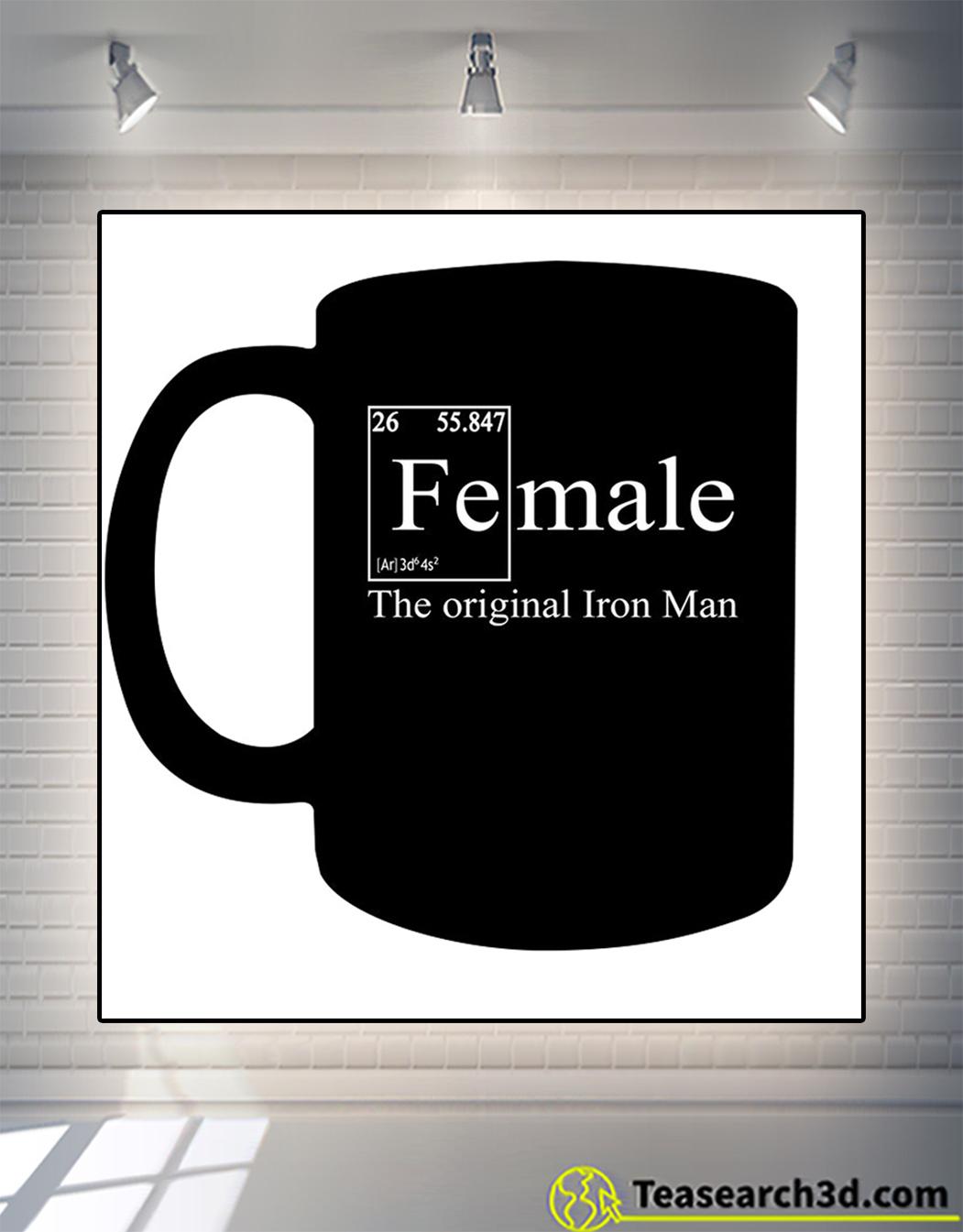 Female the original iron man mug