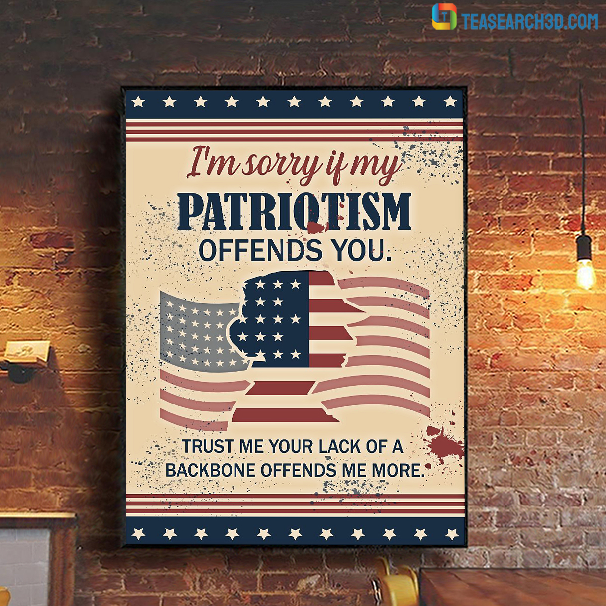 I'm sorry if my patriotism offends you poster