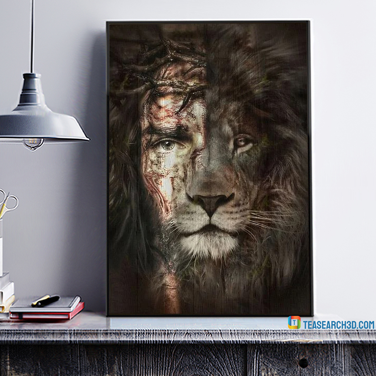 Great god jesus and lion the perfect combination canvas