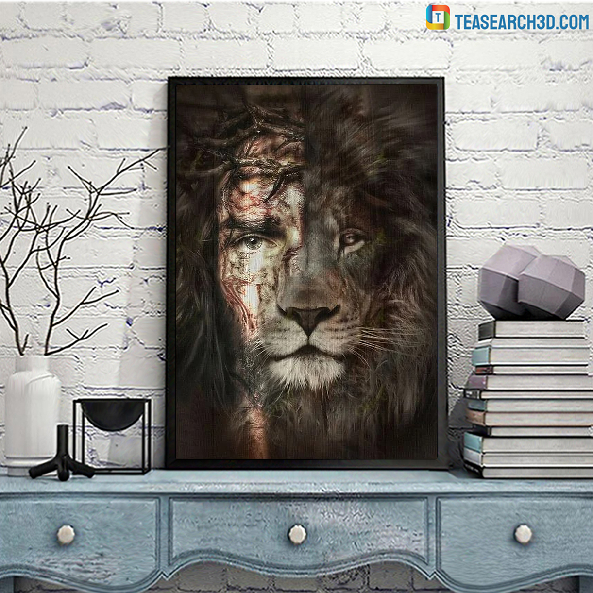 Lion and jesus the perfect combination canvas