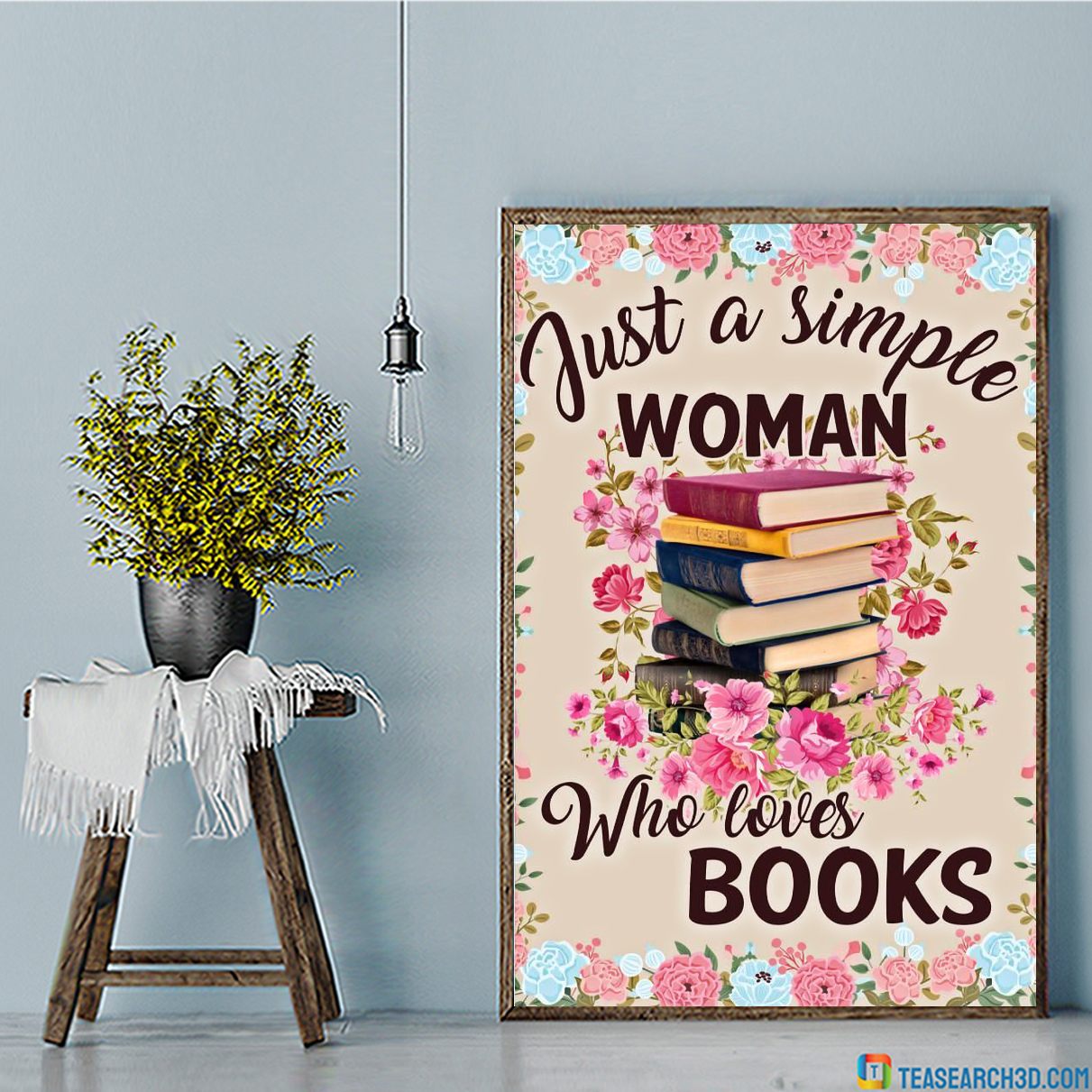 Just a simple woman who loves books poster
