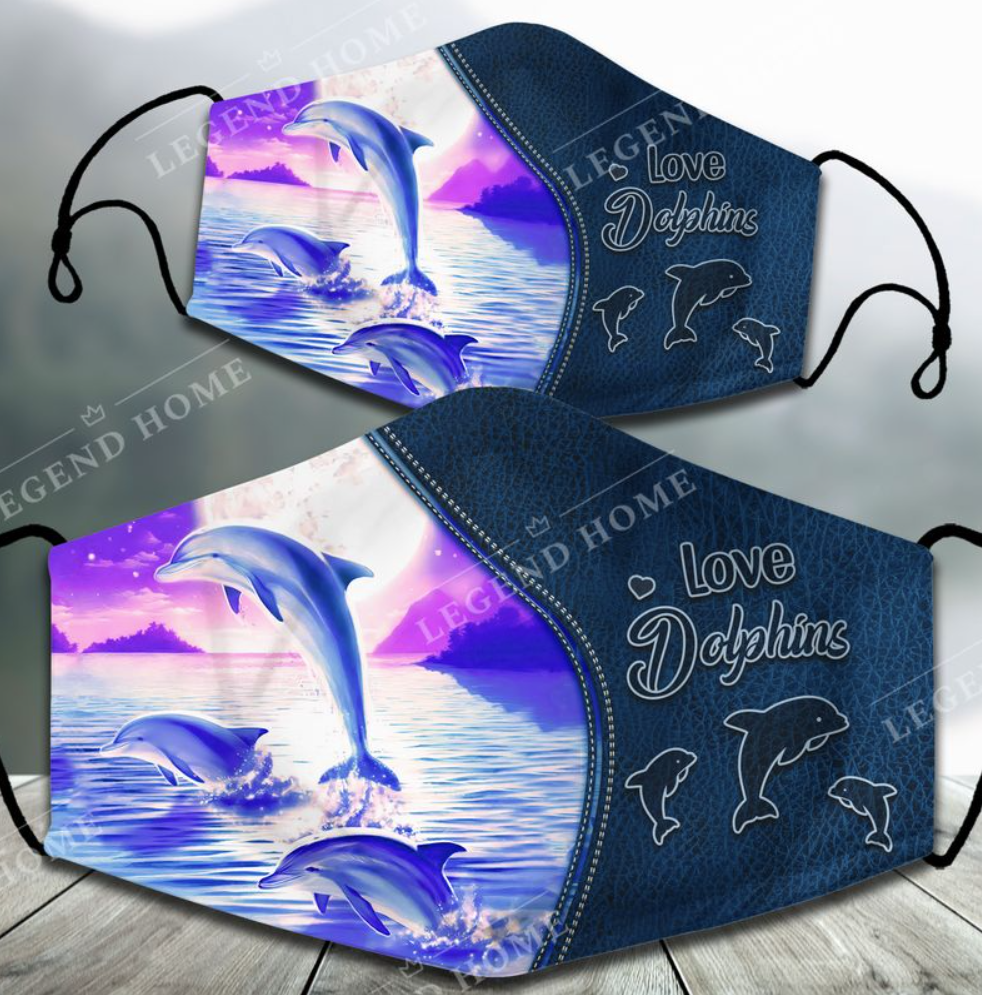 [TREND] LOVE DOLPHINS FACE MASK