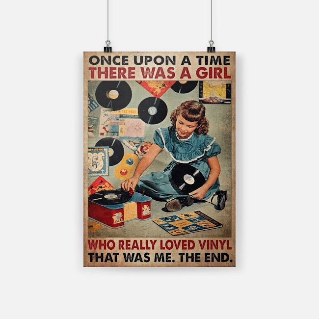 Once upon a time girl who really loved vinyl poster
