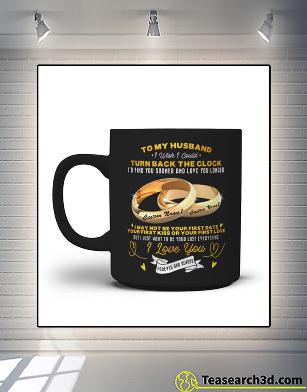 Couple rings to my husband turn back the clock customize mug