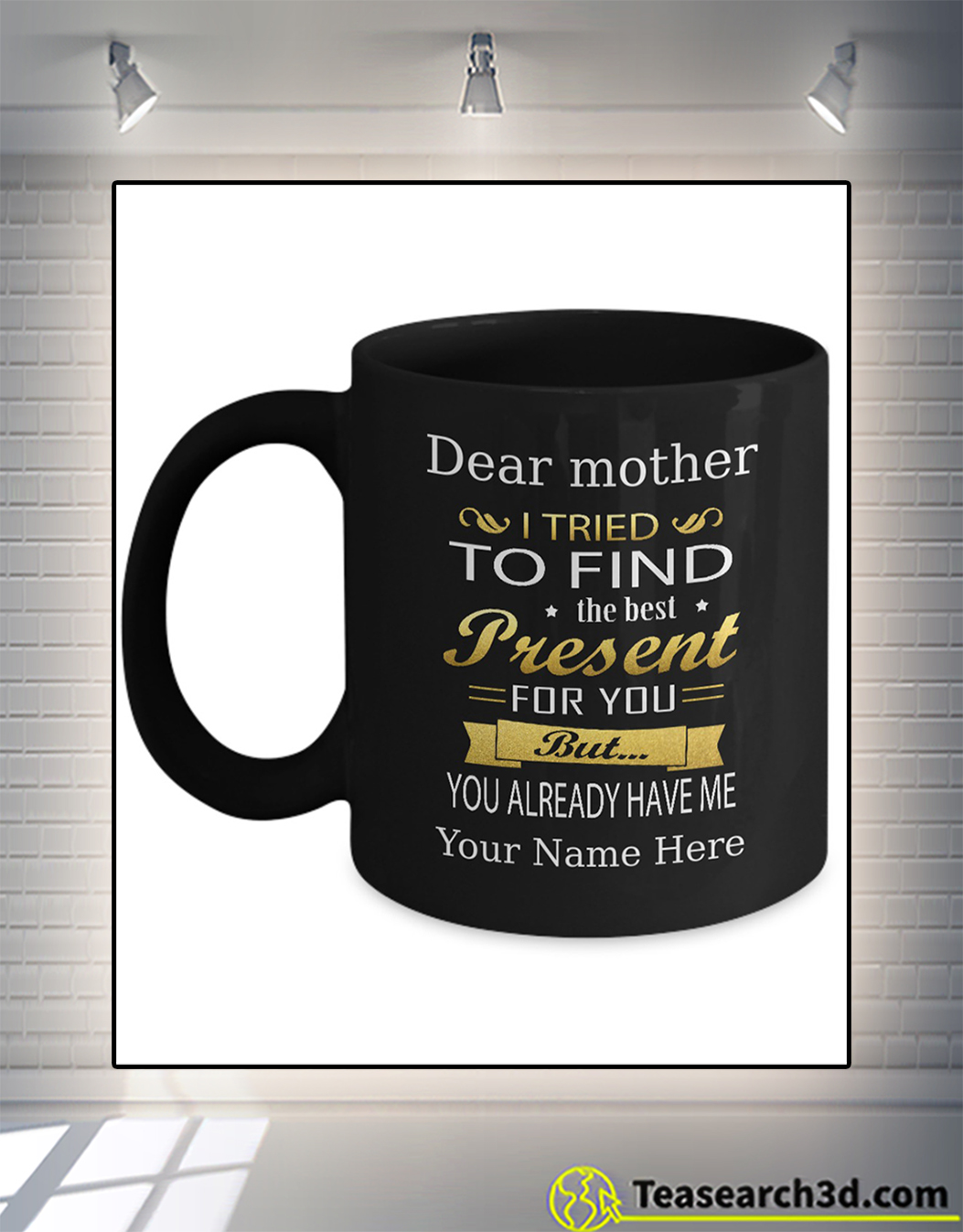 Personalized custom name dear mother I tried to find the best present for you mug