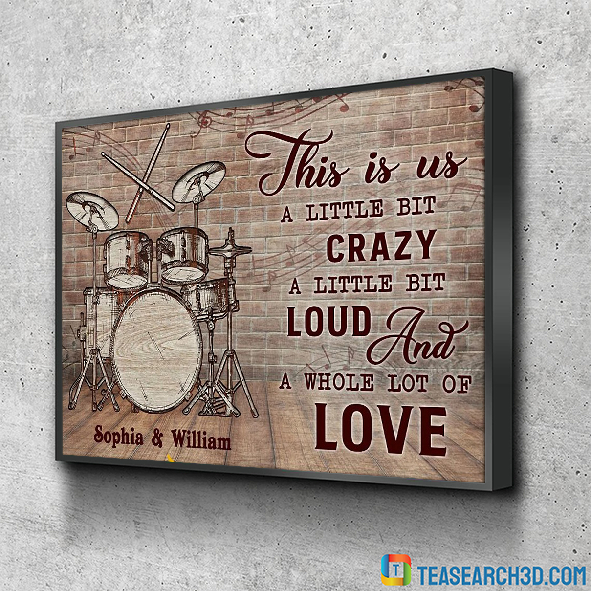 Personalized custom name drum this is us poster