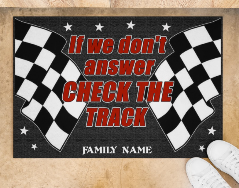 [WOW] PERSONALIZED IF WE DON'T ANSWER CHECK THE TRACK DOORMAT