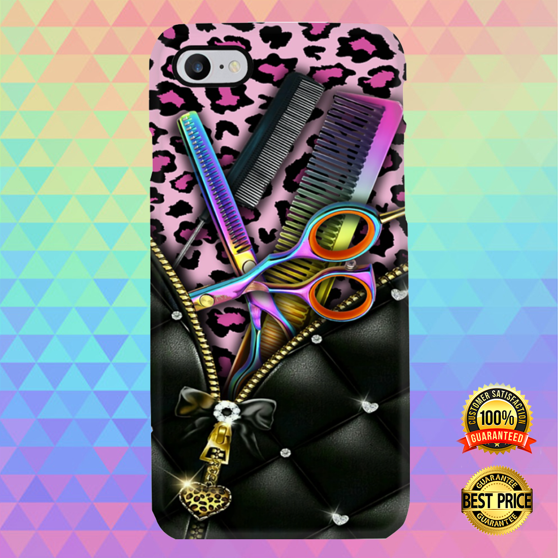 [CHEAPEST] PINK LEOPARD HAIRDRESSER TOOLS PHONECASE