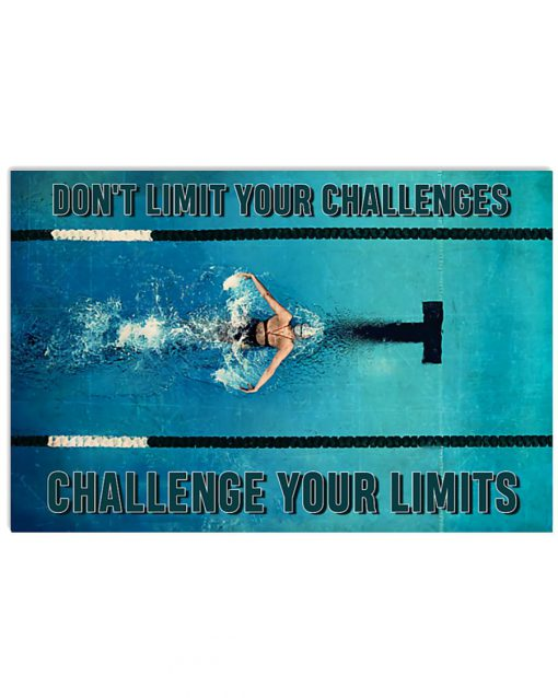 Swimming – Don't Limit Your Challenges Challenge Your Limits Poster
