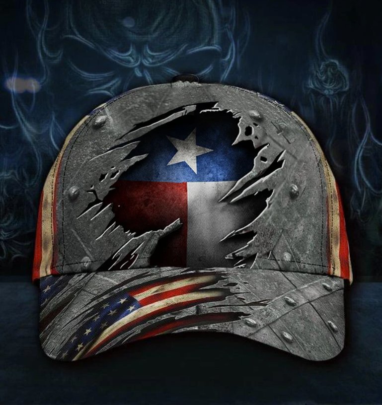 [WOW] TEXAS STATE AND AMERICAN FLAG CAP