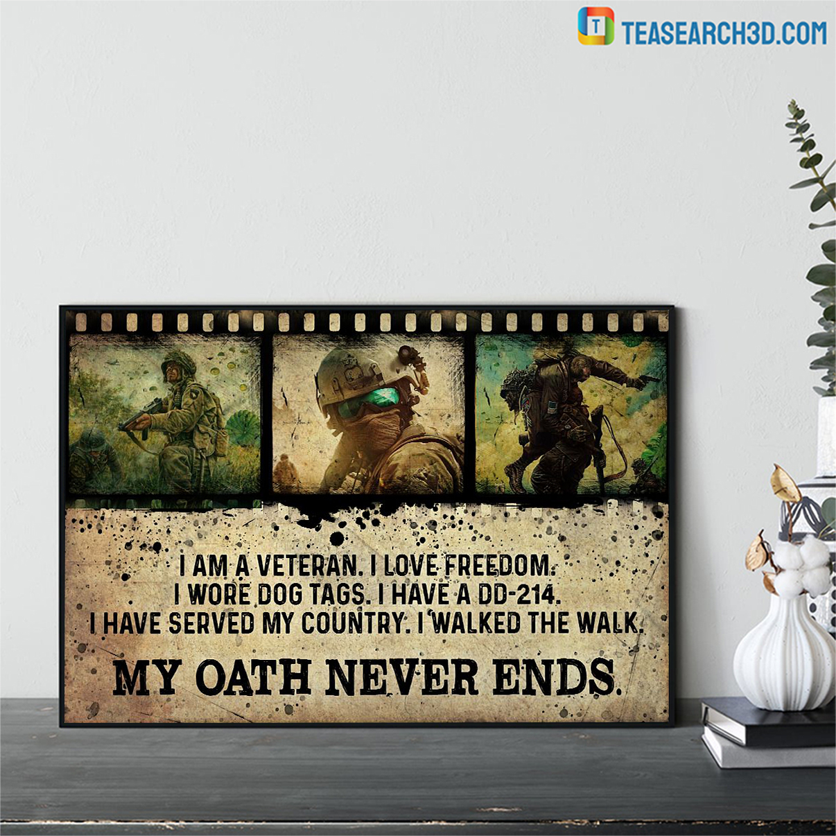 Veteran my oath never ends poster