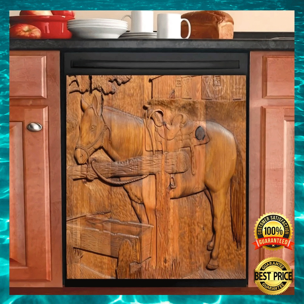 [LIMITED] WOODEN HORSE DISHWASHER COVER
