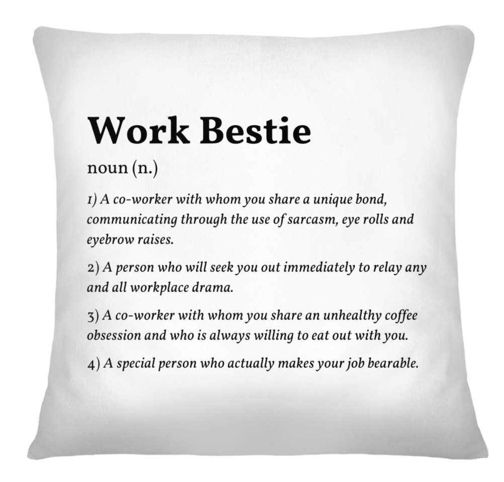 [Limited] Work Bestie Definition Pillowcase