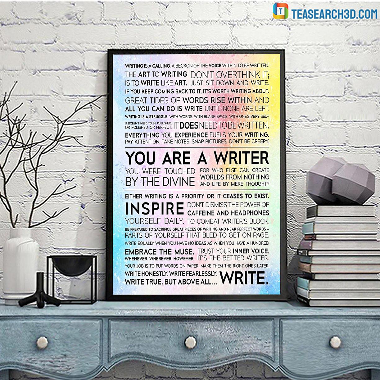 Writer manifesto poster