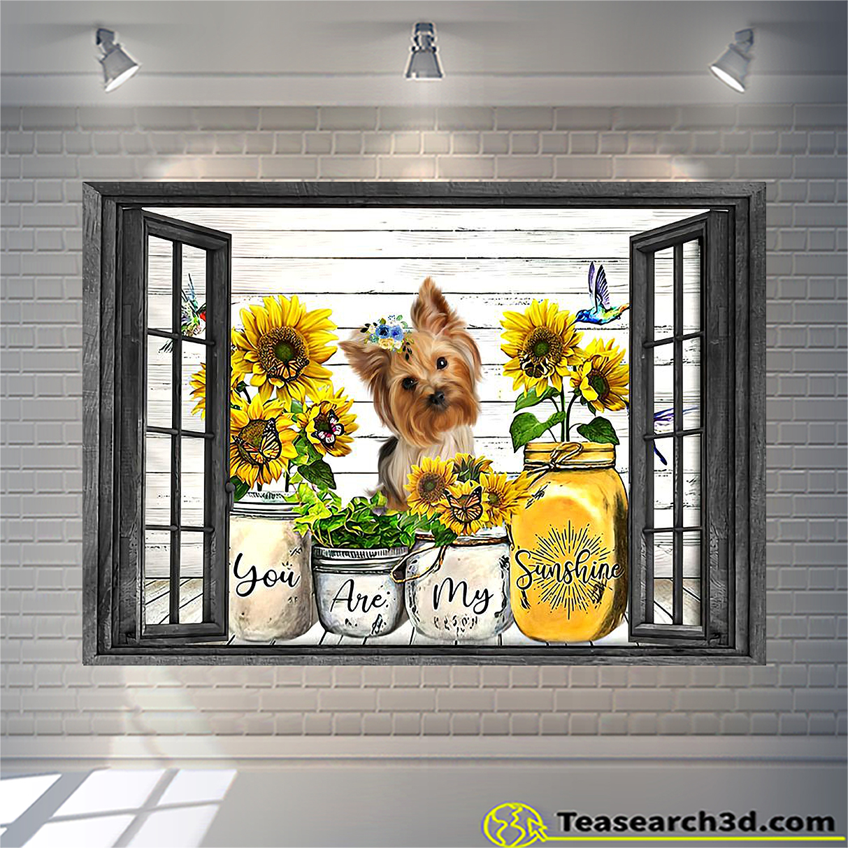 Yorkshire Terrier you are my sunshine window poster