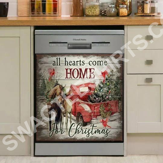 Amazing all hearts come home for christmas kitchen decorative dishwasher magnet cover