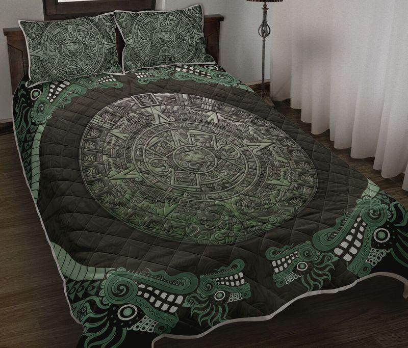 Amazing aztec mexican symbols all over printed bedding set