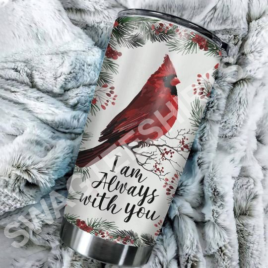 Amazing cardinal bird christmas time all over printed stainless steel tumbler