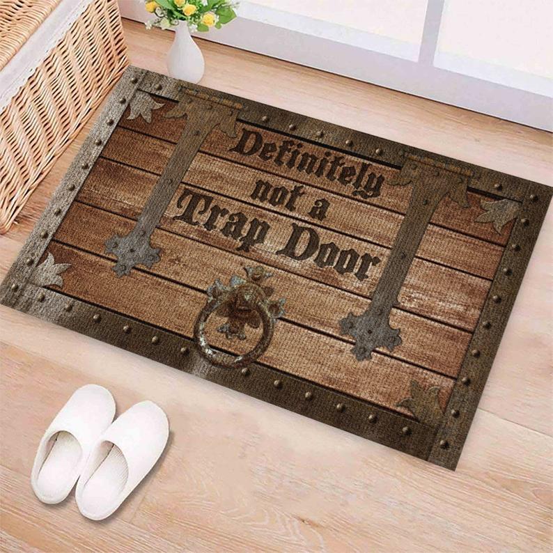 Amazing definitely not a trap door all over printed doormat