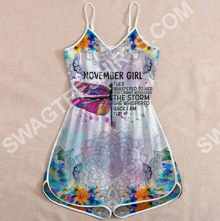 Amazing dragonfly november girl they whispered to her you cannot withstand the storm rompers
