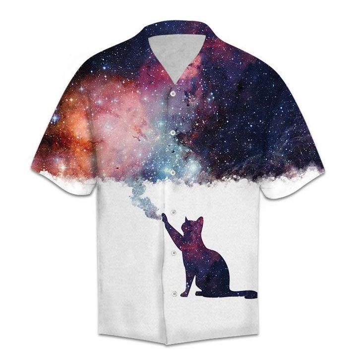Amazing galaxy cat lover all over printed hawaiian shirt