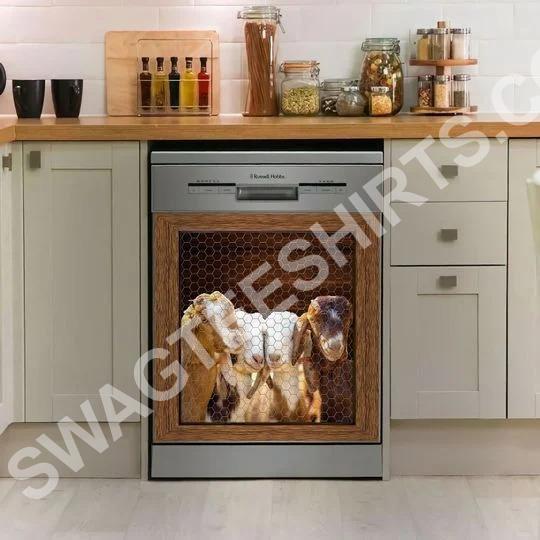 Amazing goat lovers kitchen decorative dishwasher magnet cover