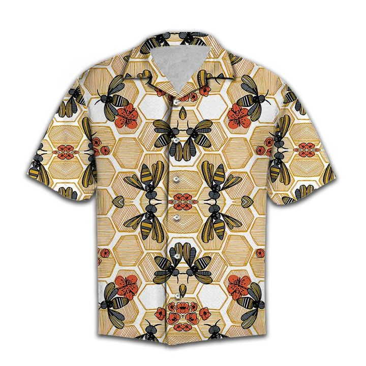 Amazing honey bee lover all over printed hawaiian shirt