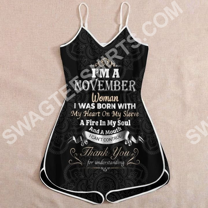 Amazing i'm a november woman birthday girl rompers
