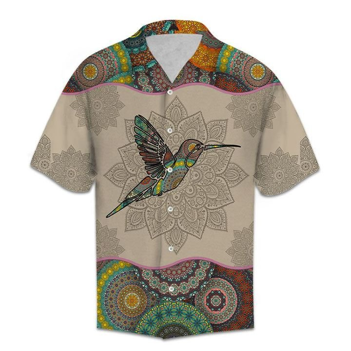 Amazing mandala hummingbird vintage all over printed hawaiian shirt