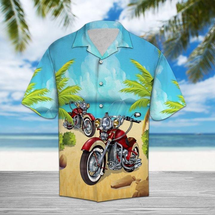 Amazing motorcycles aloha all over printed hawaiian shirt