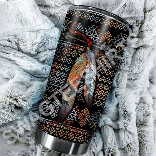 Amazing native american pattern all over printed stainless steel tumbler