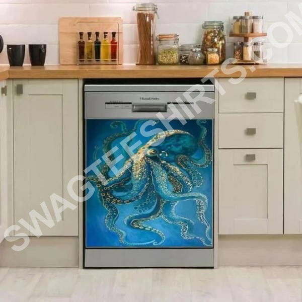 Amazing ocean octopus kitchen decorative dishwasher magnet cover