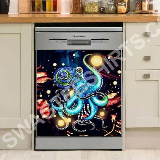 Amazing octopus colorful kitchen decorative dishwasher magnet cover