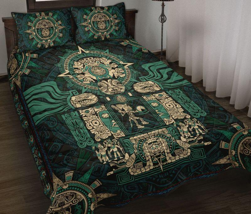 Amazing the aztec symbols all over printed bedding set