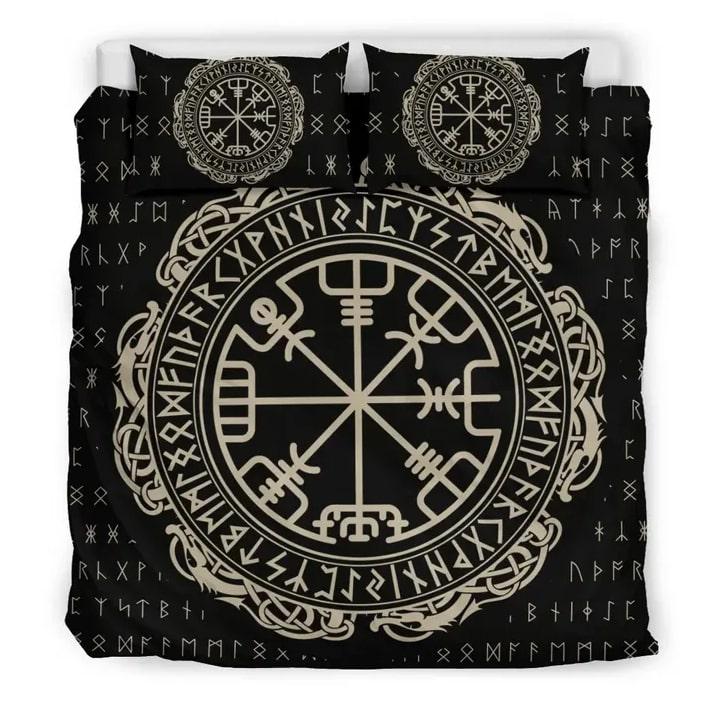Amazing the viking symbols all over printed bedding set