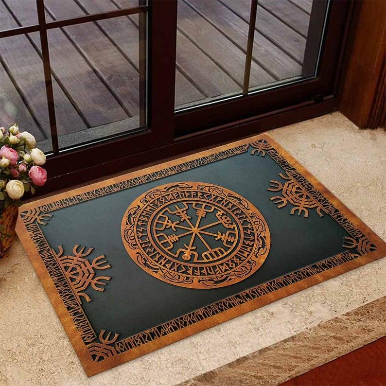 Amazing viking norse mythology all over printed doormat