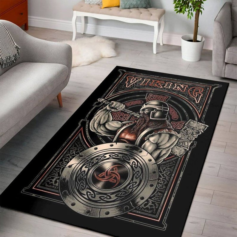 Amazing viking rectangle all over printed rug