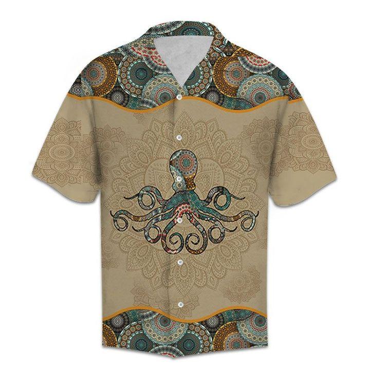 Amazing vintage octopus all over printed hawaiian shirt