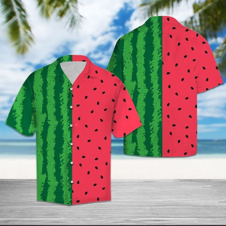 Amazing watermelon tropical all over printed hawaiian shirt
