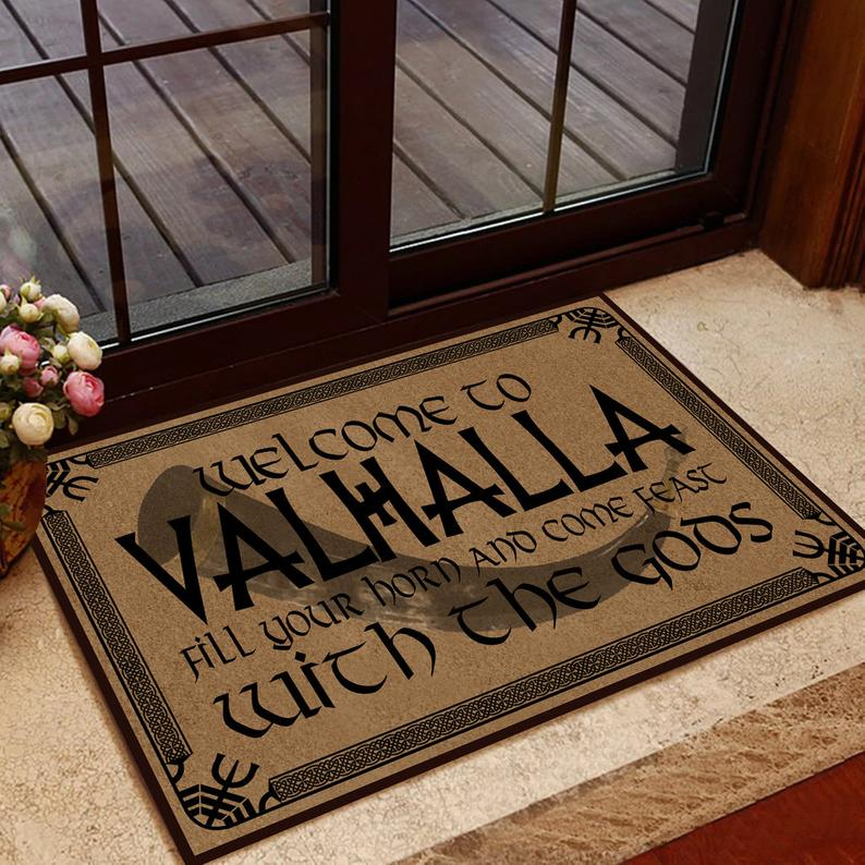 Amazing welcome to valhalla with your Gods doormat
