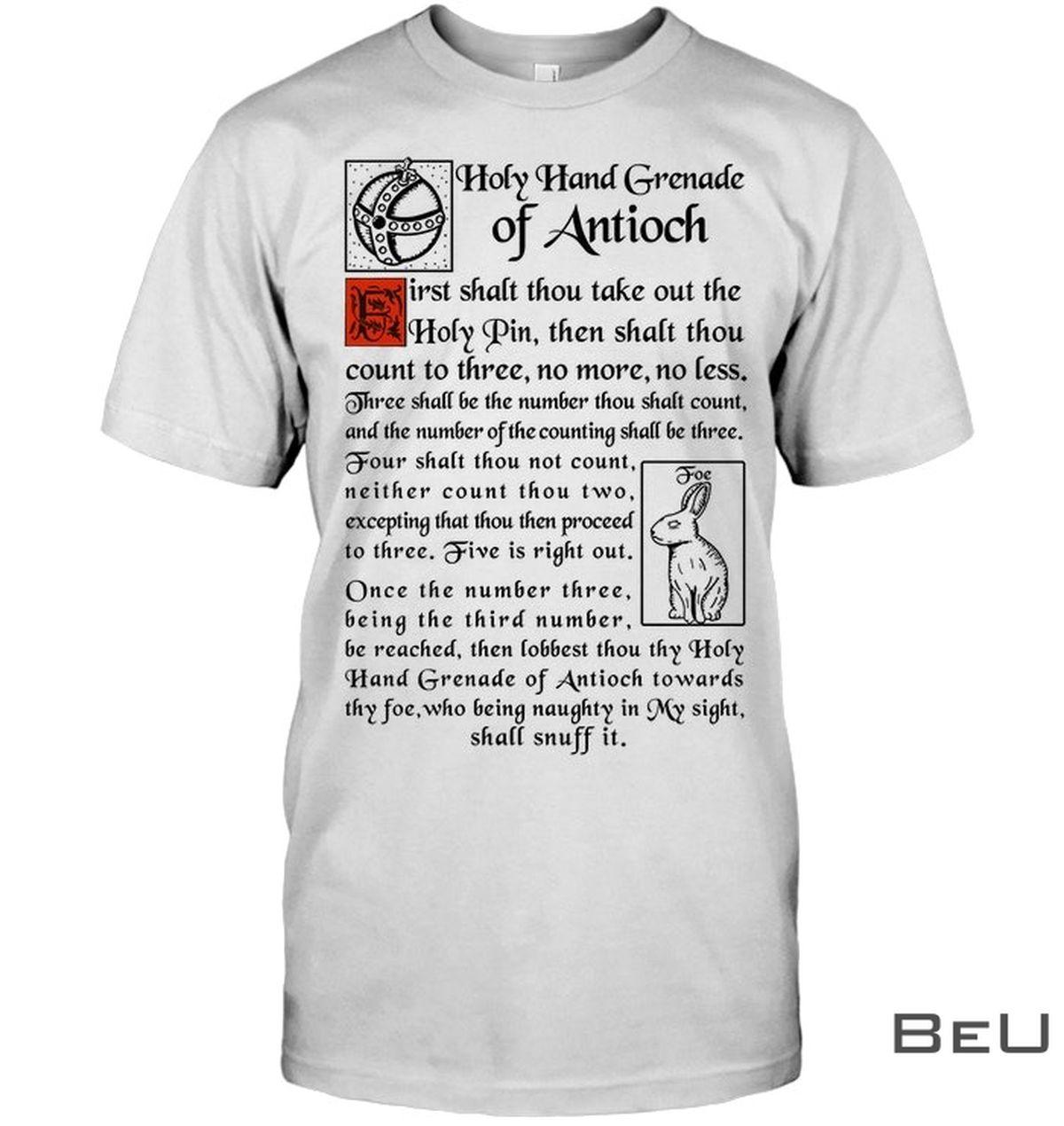 Holy Hand Grenade Of Antioch Shirt, hoodie, tank top