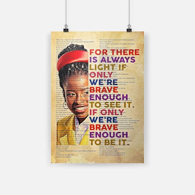 Amanda gorman there is always light full poem vertical poster