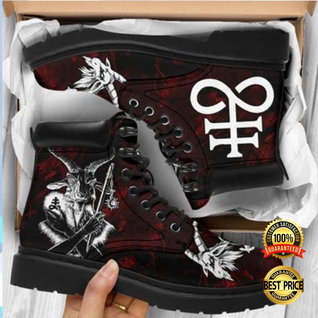 [WOW] BAPHOMET TIMBERLAND BOOTS