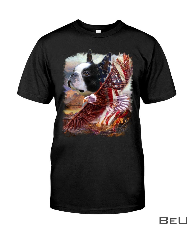 Boston Terrier American Patriot For Terrier Lover Shirt, hoodie, tank top