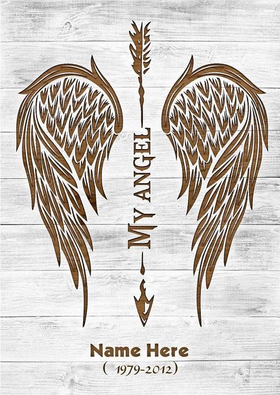 Custom name my angel vertical poster