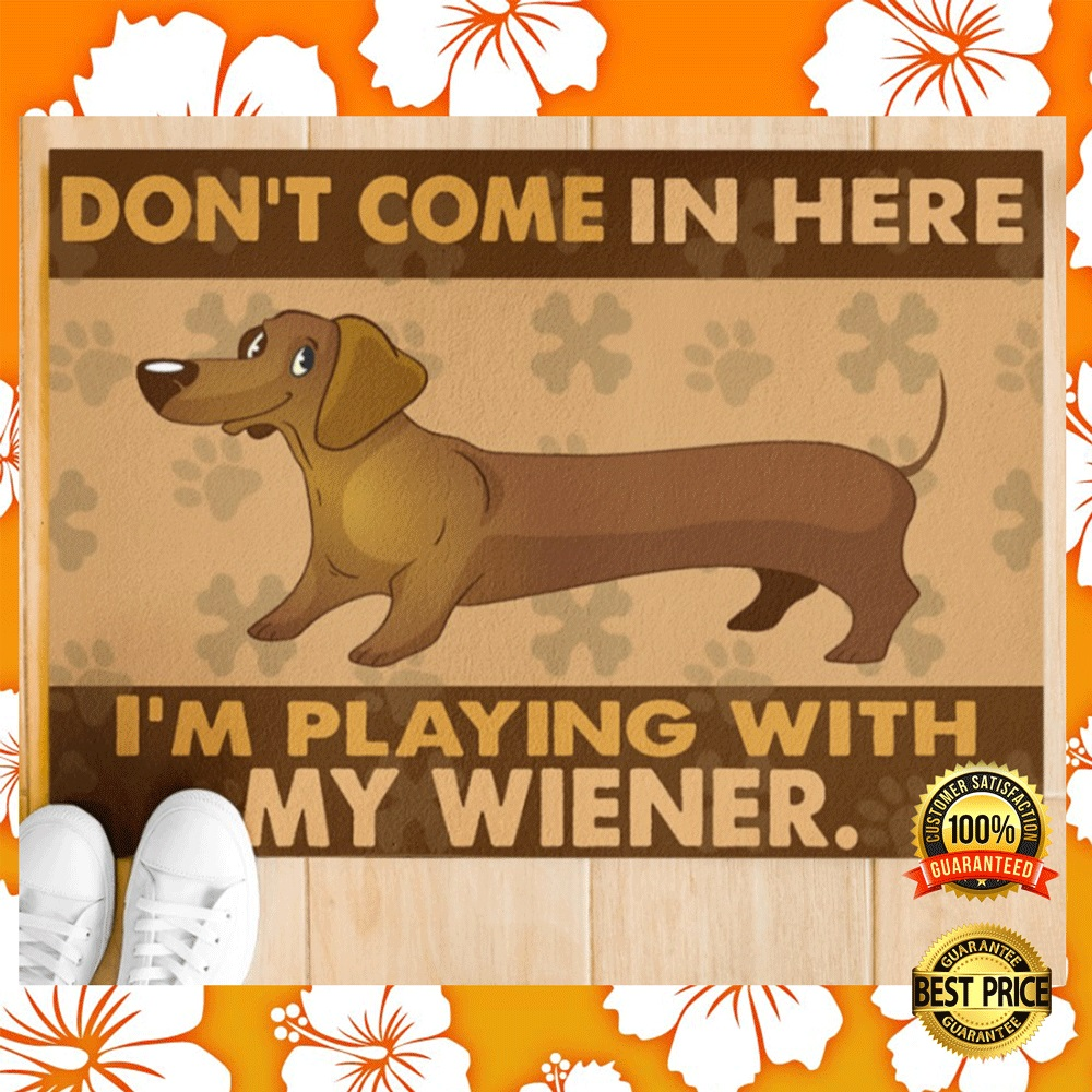 [NEW] DON'T COME IN HERE I'M PLAYING WITH MY WIENER DOORMAT